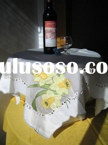 Elegant embroidered tablecloth