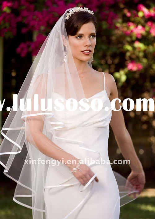 Elegant satin edge communion gorgeous bridal veils for beautiful girls