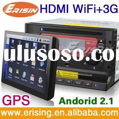 Erisin Anti-Theft 7 inch Smart Car DVD Player with 3G WiFi GPS Android PAD TV Radio Camera