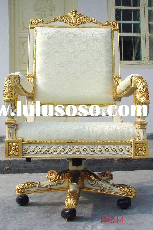 European& French wooden swivel arm chair, hand carving,antique design