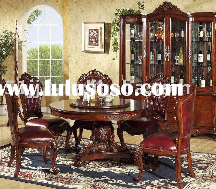 European style high quality wooden home furniture dining room set NS-9811A