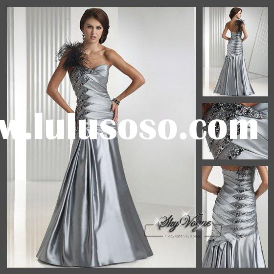 FM025*New Style Classic One-Shoulder Evening Gown