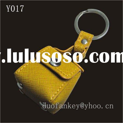 Fashion Cute Colourful Leather Bag Key Chain