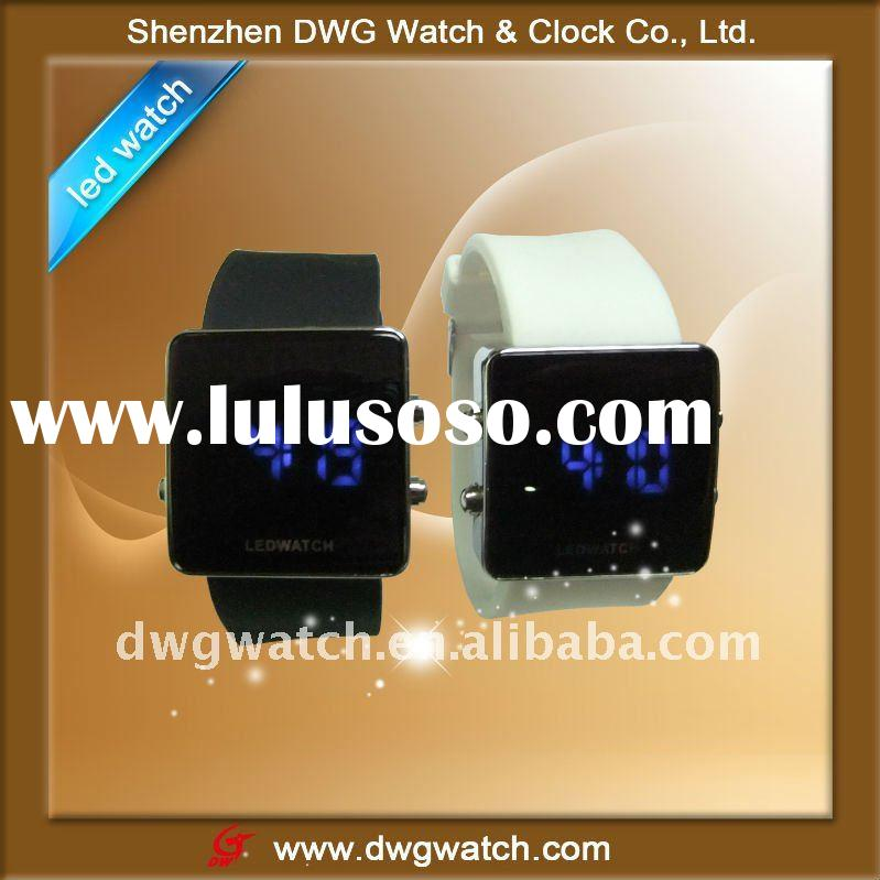 Fashion Led wrist watch with silicone strap for summer/DWG--D0019