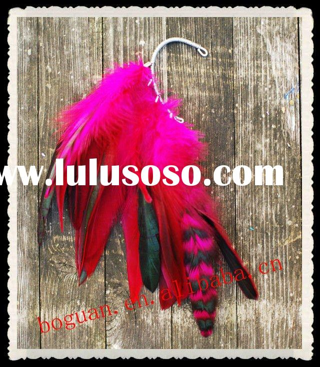 Fashion jewelry feather earring 2012 newest design