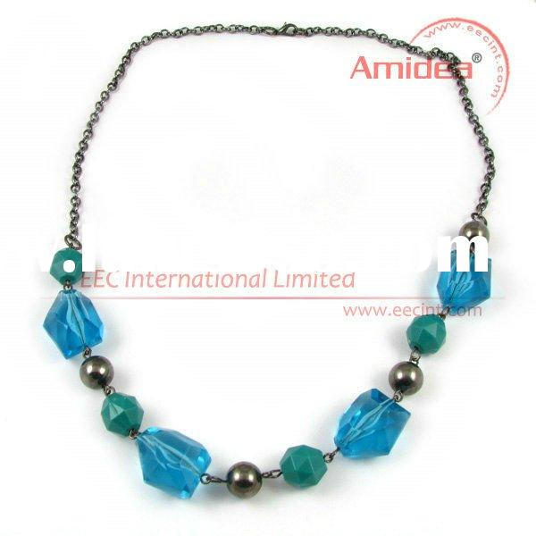 Fashion multi colored crystal necklace, Handmade necklaces jewelry EPN0075