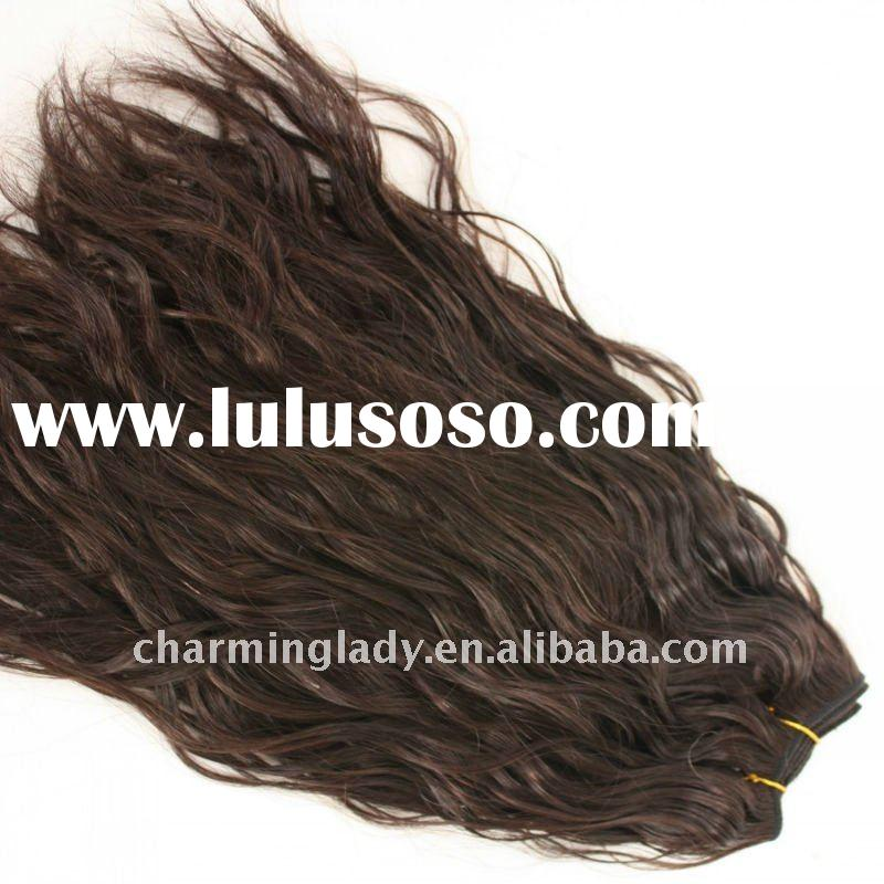 Fashion style natural wave brazilian hair weft