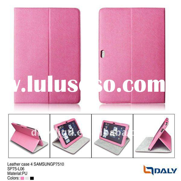 Fashional design with folding stand case for sumsang7510, mobile phone leather case