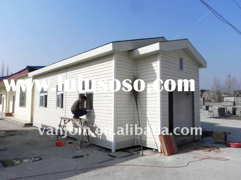 Fast construction sandwich panel building material for houses