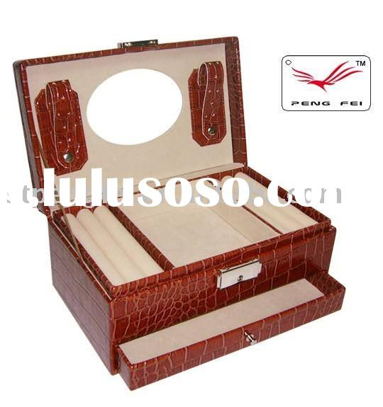 Faux leather Jewellery box,used packing Jewelry,Cosmetic