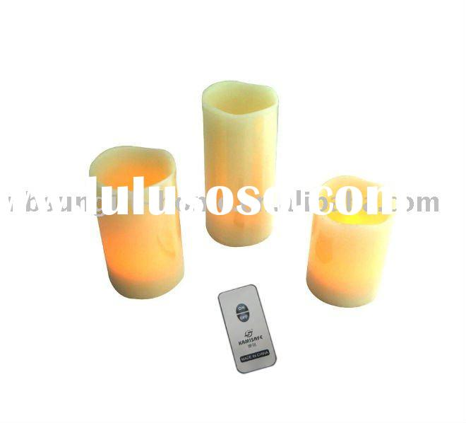 Flameless Led Candles with Remote Control Led Light 3pcs a Set