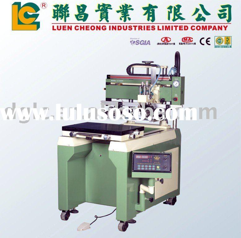 Flat Screen Printing Machine with Moving Table