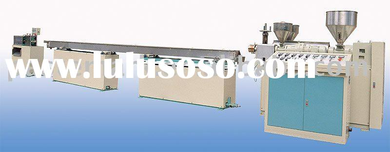 Flexible drinking straw tube extruding machine