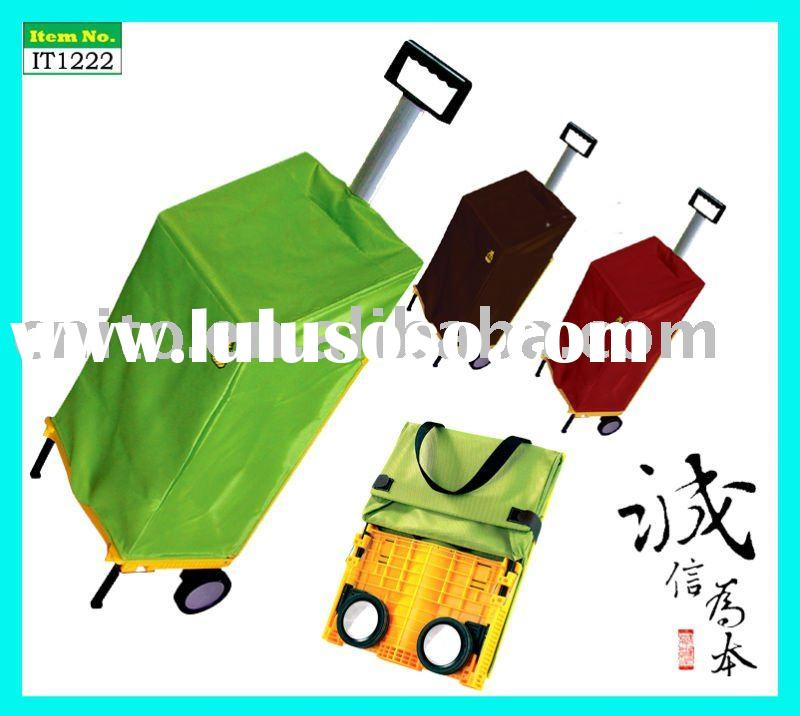 Folding Reusable Supermarket Grocery Laundry Shopping Rolling Tote Trolley Cart Wheeled Bag