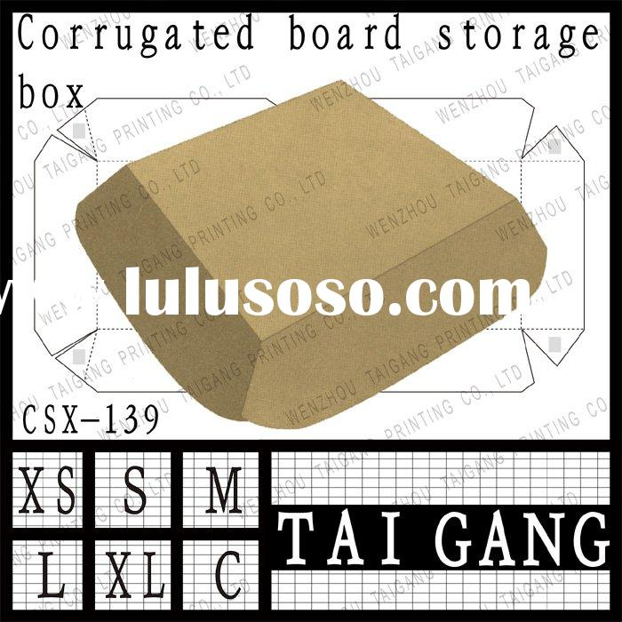 For hamburger book type single face corrugated board packing box