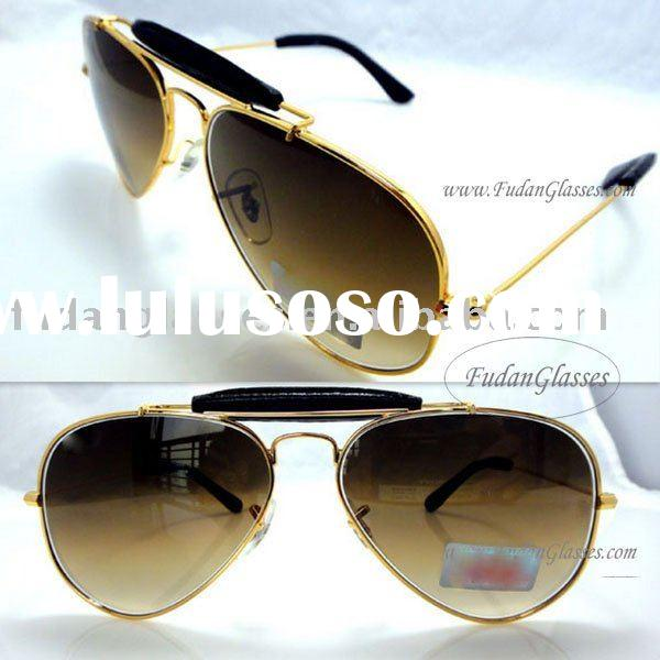 Free shipping aviator sunglasses designer sunglass metal sunglasses RB3422Q gold dark brown