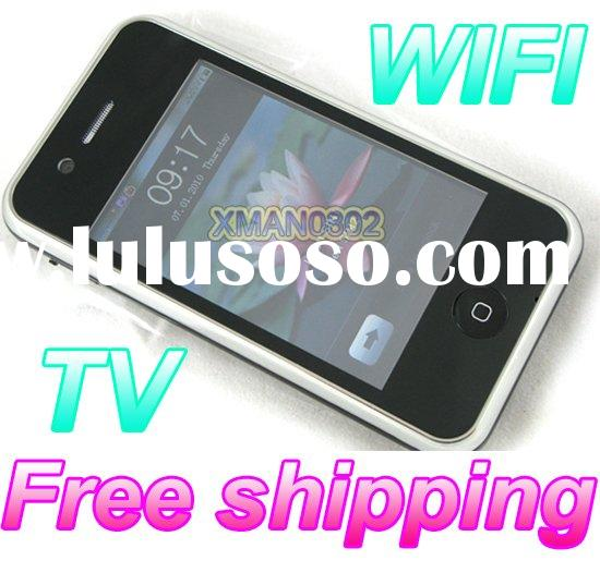 Free shipping gsm mobile phone unlocked gps wifi tv mobile phone java dual sim cell phone F075 2GB