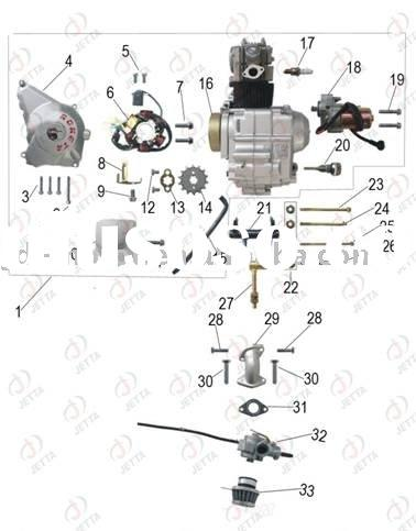 jdgk-37 go kart parts for sale