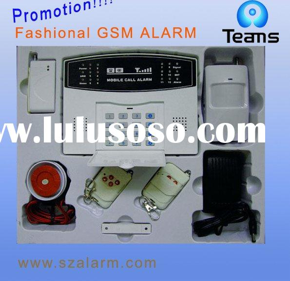 GSM network wireless home alarm system with dual way talking/keypad control