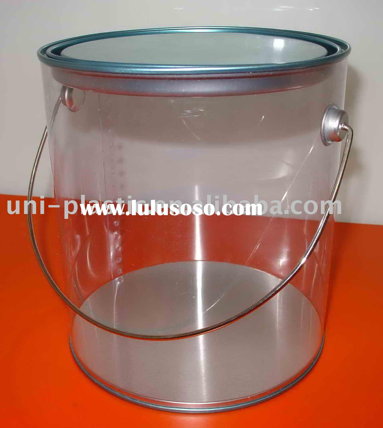 1 gallon clear bucket wth handle for sale price china for 1 gallon clear plastic paint cans