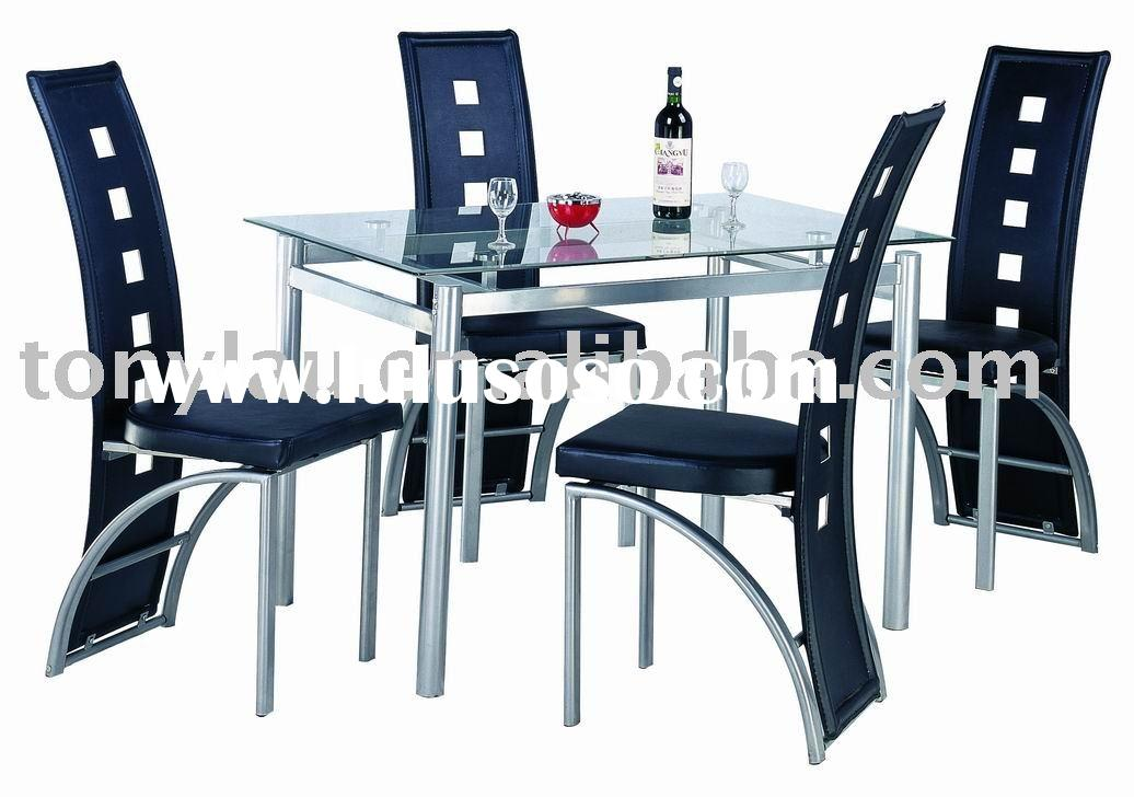 Glass Dining Set,Metal Dining sets,Glass Dining table set