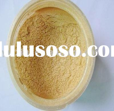 Gold color pearlescent powder for cosmetic