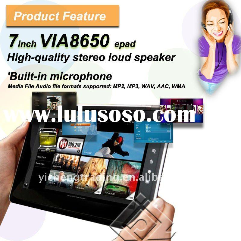 Good quality 7 inch MID VIA 8650 CPU Android 2.2 OS 3G Wifi mid tablet pc manual