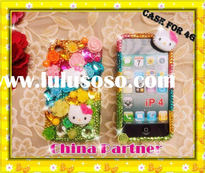 HELLO KITTY CRYSTAL BLING DIAMOND CASE /CAVER FOR IPHONE 4 4S