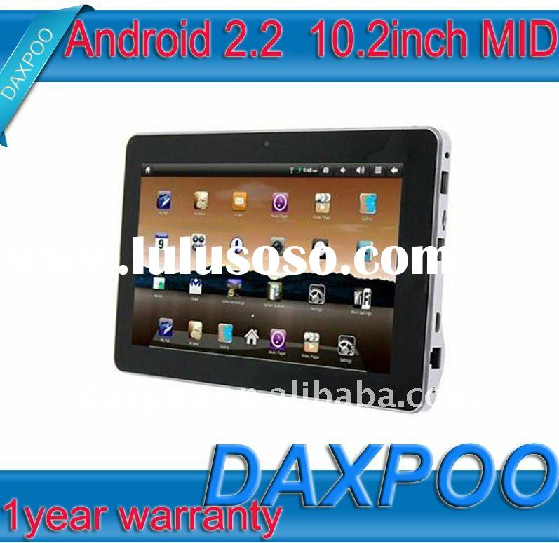"HOT SALE! factory competitive price 10.2"" TFT WIFI WIRELESS NET Infotm X220 Android 2.2 super p"
