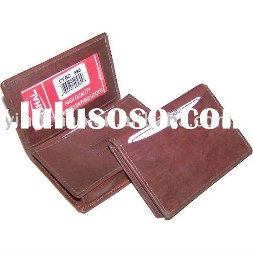 Handcrafted Genuine Cowhide Leather expandable credit card/business card wallet