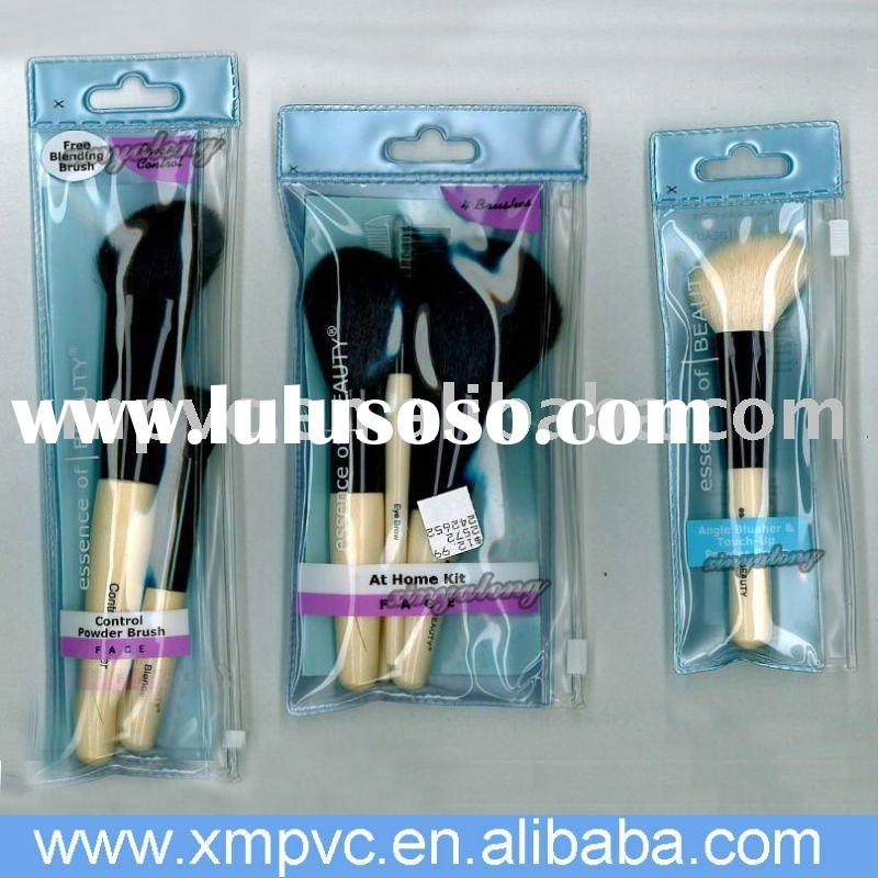 Heat sealed PVC brushes bag for cosmetics and personal care items D-C158