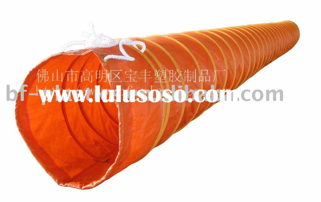 Heated retardant and fire resistant PVC Flexible vent duct
