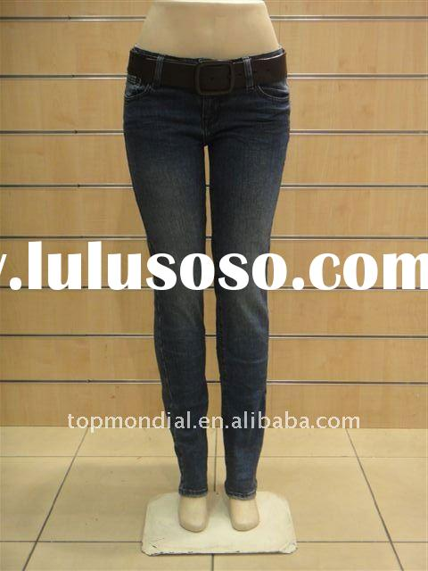 High quality fashion skinny lady's denim jeans