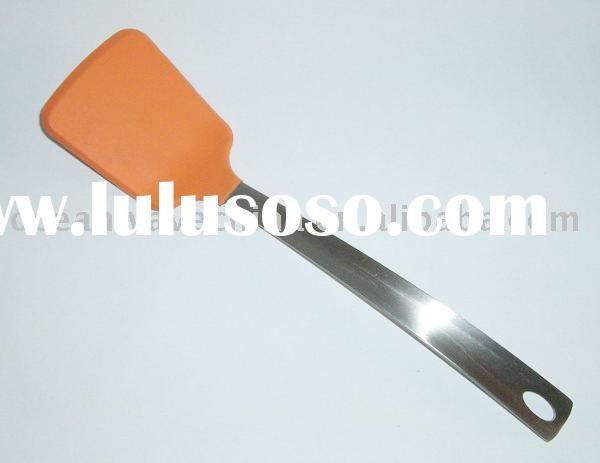 High quality stainless steel silicone turner, solid turner