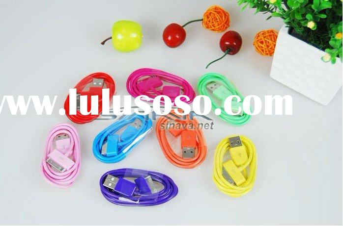 Hot !!!Colorful USB Data sync Charger cable For iPhone 4S 4G