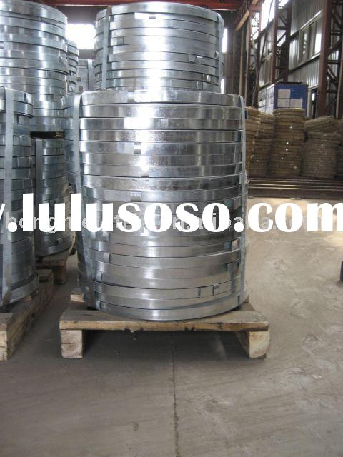 Hot dipped galvanized steel strip for armored cable