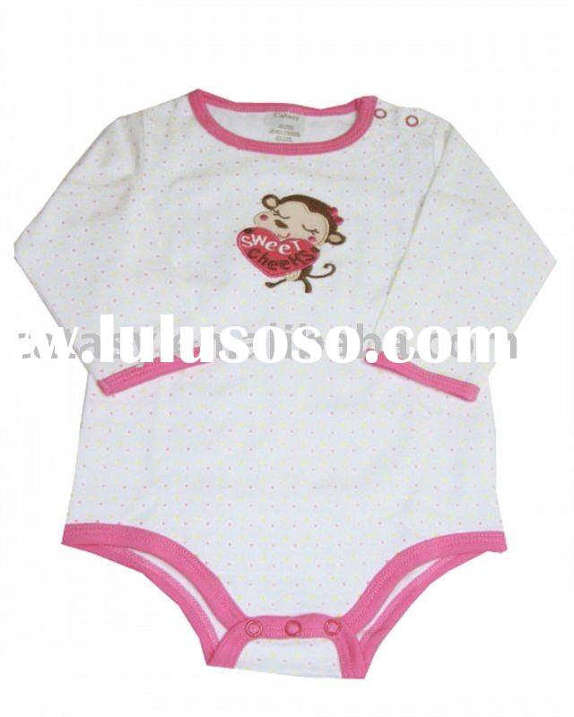 Hot sell 100% cotton child clothing with soft& health
