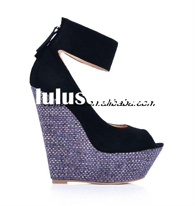 Hot selling! New brand women high heel wedge strappy shoes