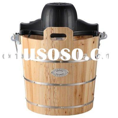 Ice Cream Maker(Wooden bucket ice cream machine; traditional ice cream maker; original coco freezer)