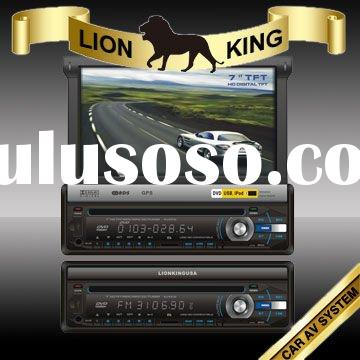 """In dash 1 din car dvd player gps with 7"""" touch screen TFT"""