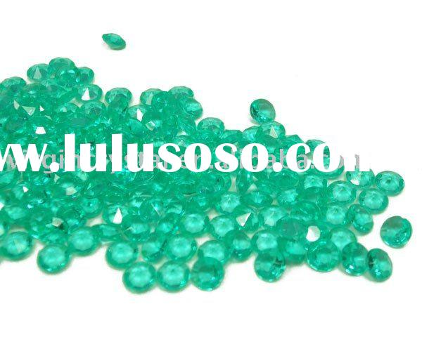 Jade Green Diamond Confetti Wedding Table Decoration