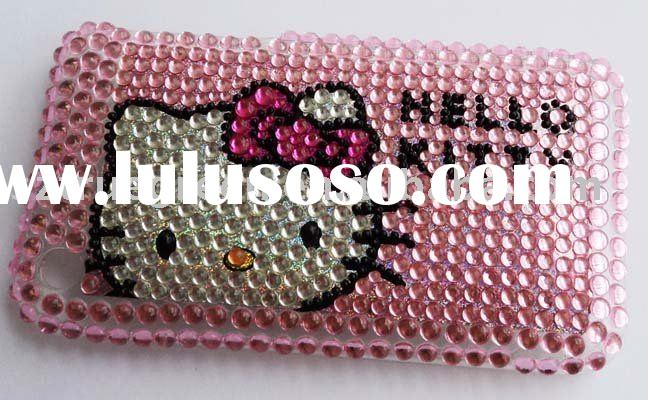 Jeweled diamond hello kitty hard case cover for Apple iPhone 4 4G 4th