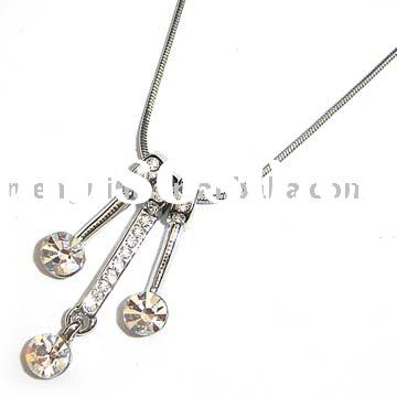 Jewellery,jewelry,fashion jewelry,Necklace,Costume jewelry necklace with exchangeable pendants-N0144