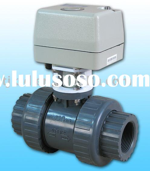 Motorized ball valve for automatic water flow control for for Motorized flow control valve