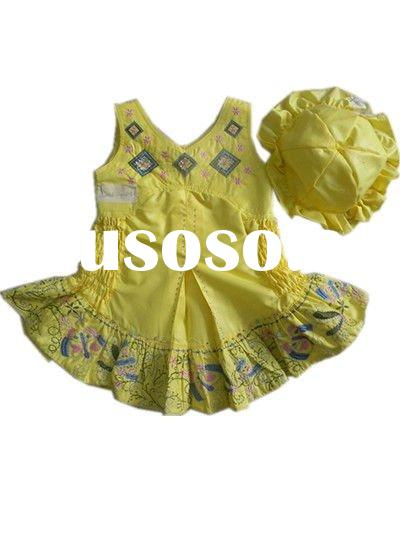 Kids Cotton dress with flower for 2012