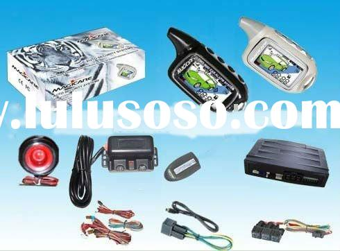 LCD with phonetic security two way car alarm system