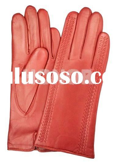 Ladies fashion winter cabretta leather glove-LG0708125
