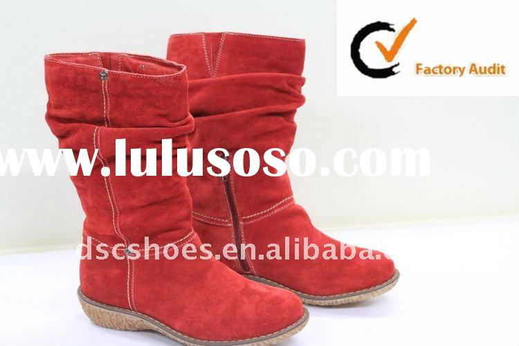 Latest Design Red Suede Women Shoes And Ladies Boot DSC114