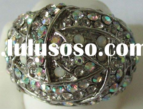 Latest Design Rhinstone Ring Jewelry With Colourful diamond for 2011 Fashion Jewelry