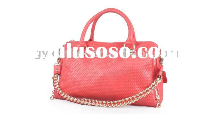 Latest design genuine leather handbag lady women handbag